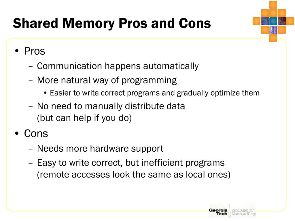 Shared Memory Pros and Cons