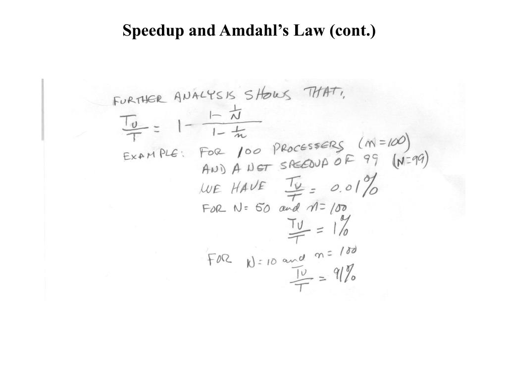 Speedup and Amdahl's Law (cont.)
