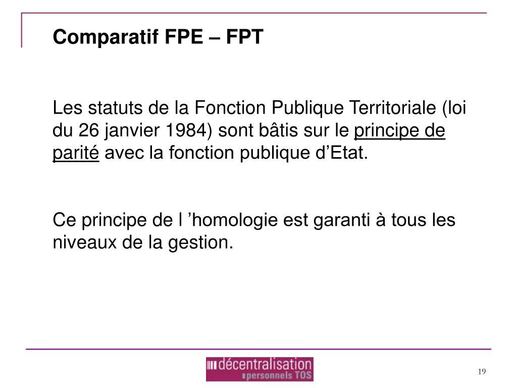 Comparatif FPE – FPT