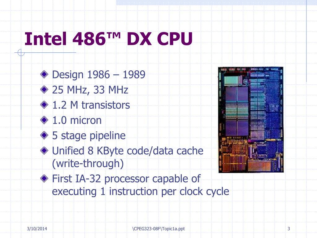 Intel 486™ DX CPU