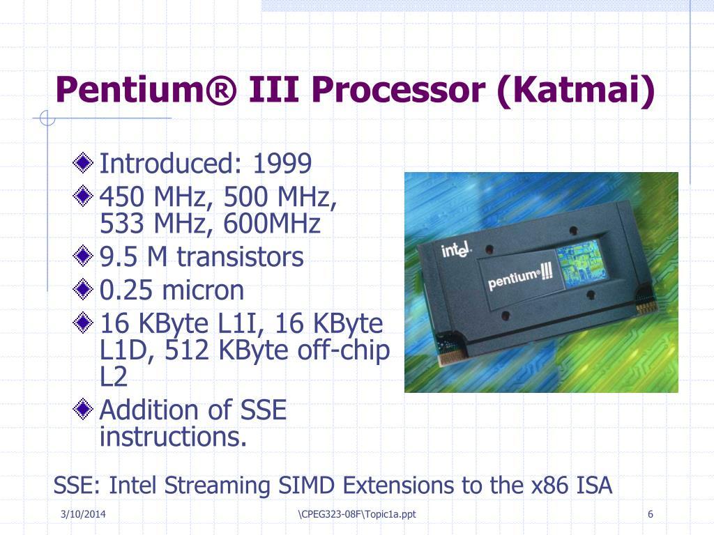 Pentium® III Processor (Katmai)