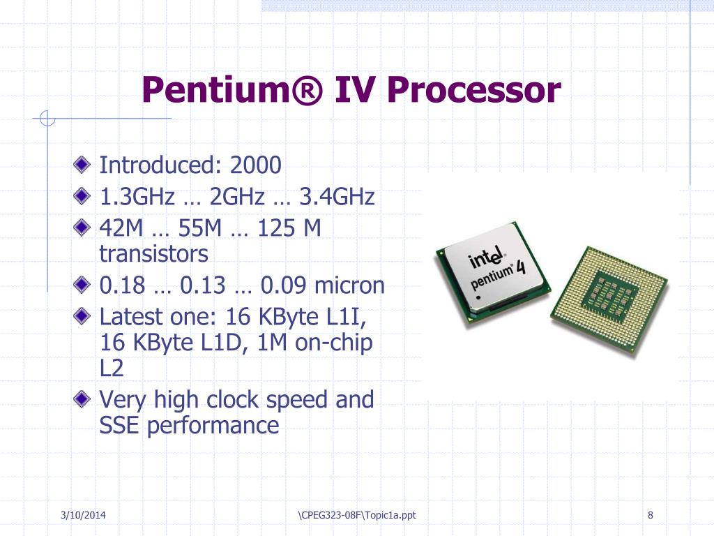 Pentium® IV Processor