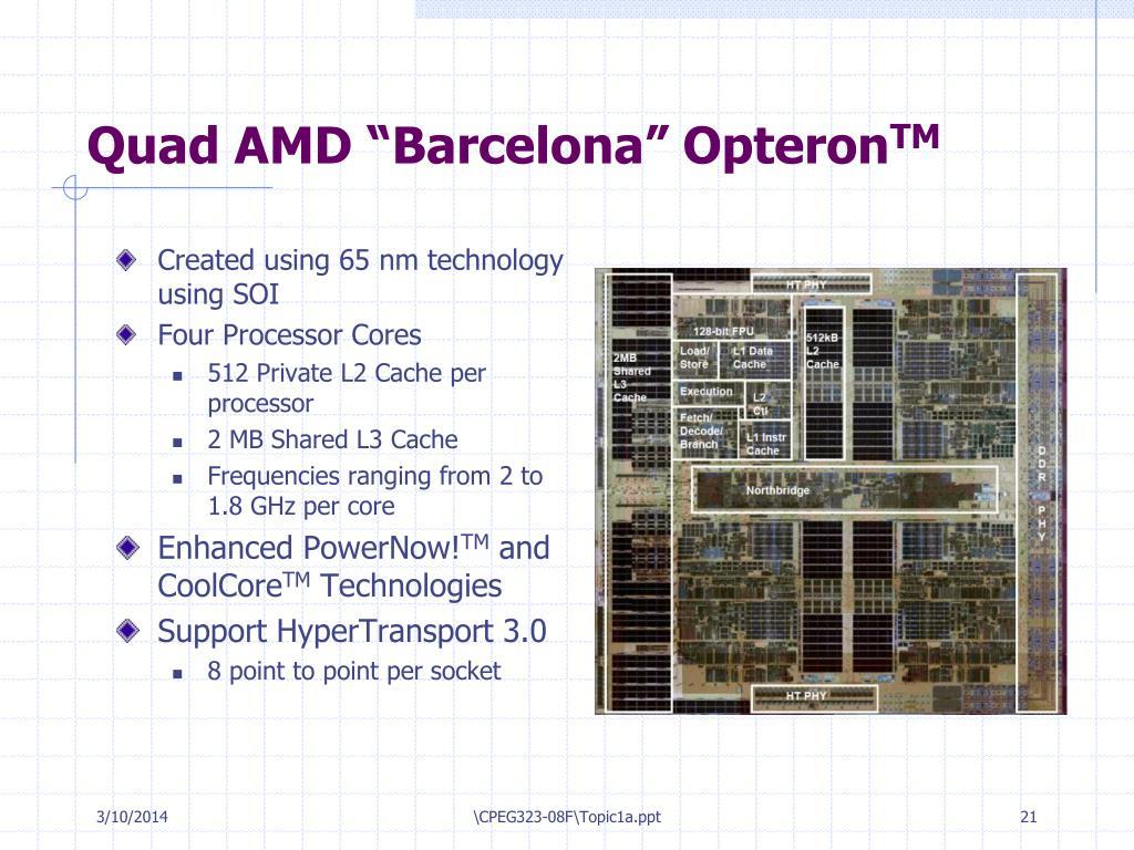 "Quad AMD ""Barcelona"" Opteron"