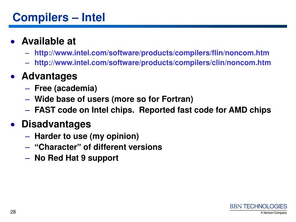 Compilers – Intel