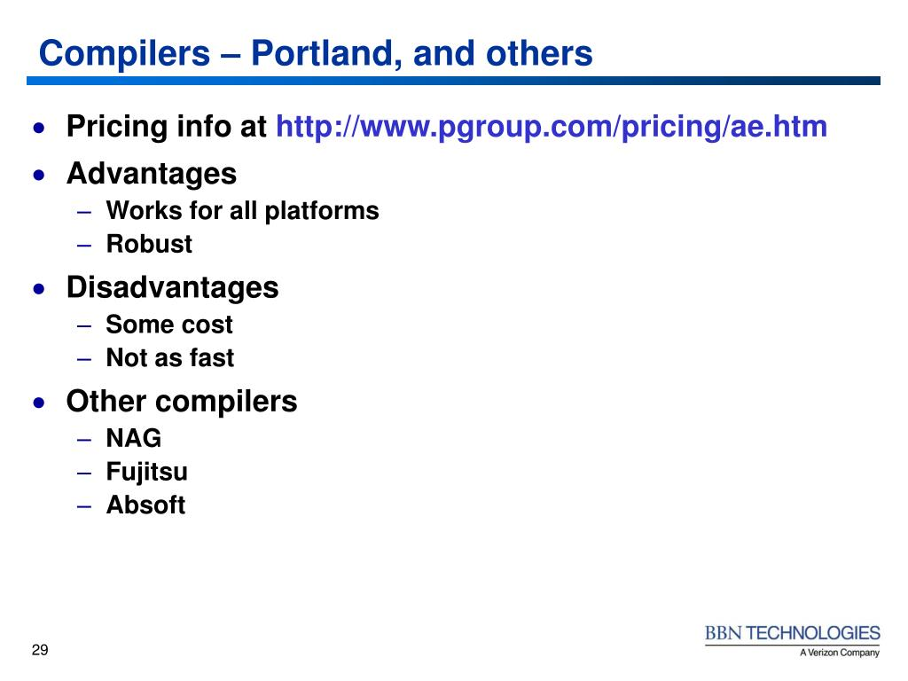 Compilers – Portland, and others