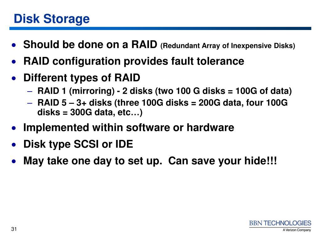 Disk Storage