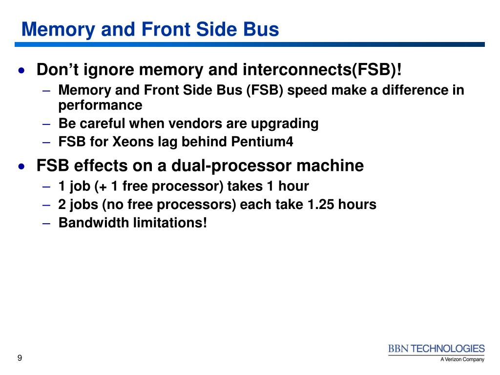 Memory and Front Side Bus