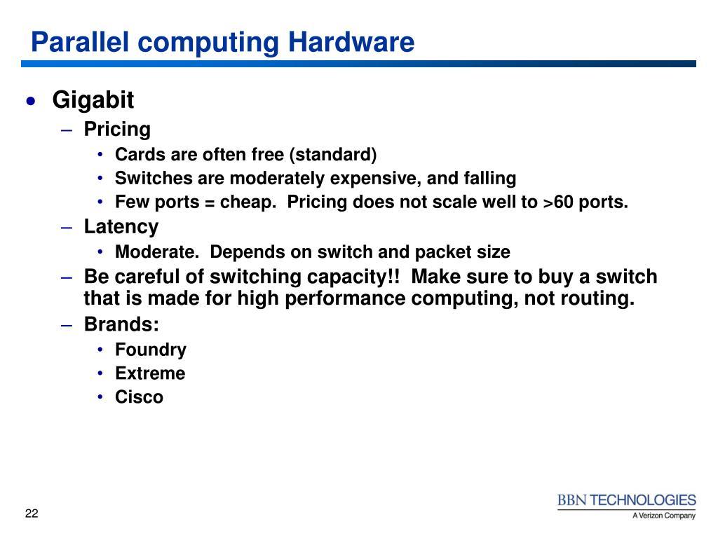 Parallel computing Hardware