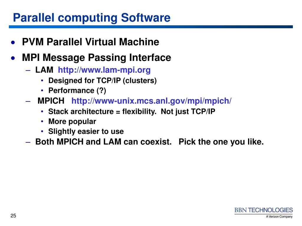 Parallel computing Software