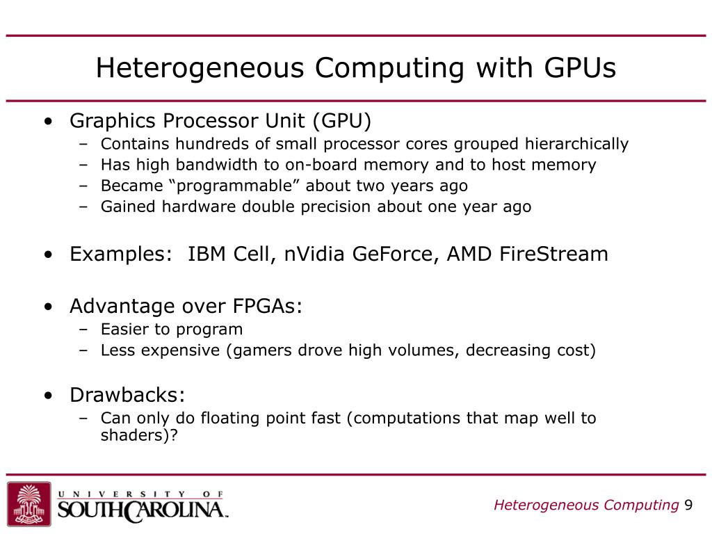 Heterogeneous Computing with GPUs