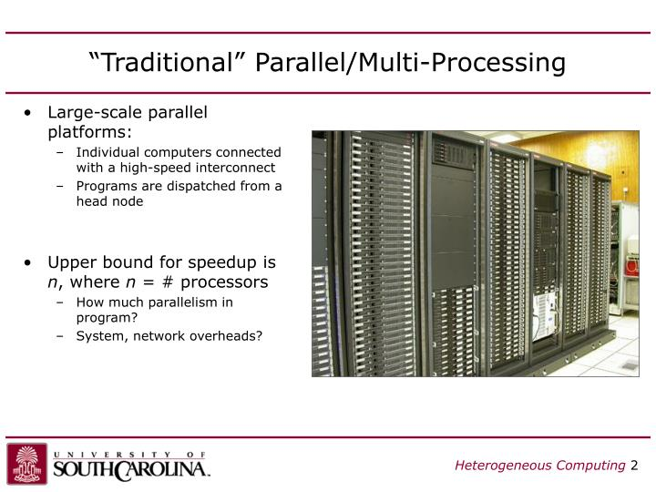 Traditional parallel multi processing