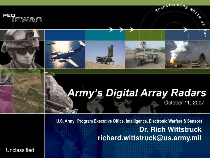 Army's Digital Array Radars