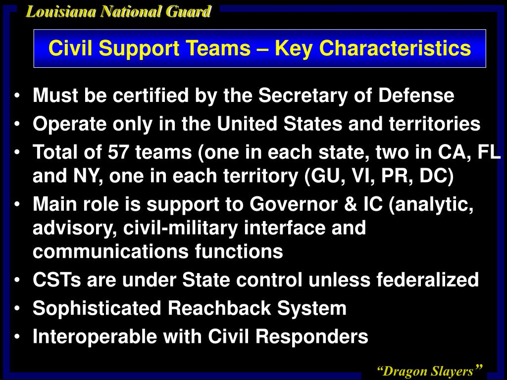 a paper on weapons of mass destruction civil support teams Au/acsc/200/2001-04 air command and staff college air university weapons of mass destruction civil support teams (wmd-cst): a necessary failure.