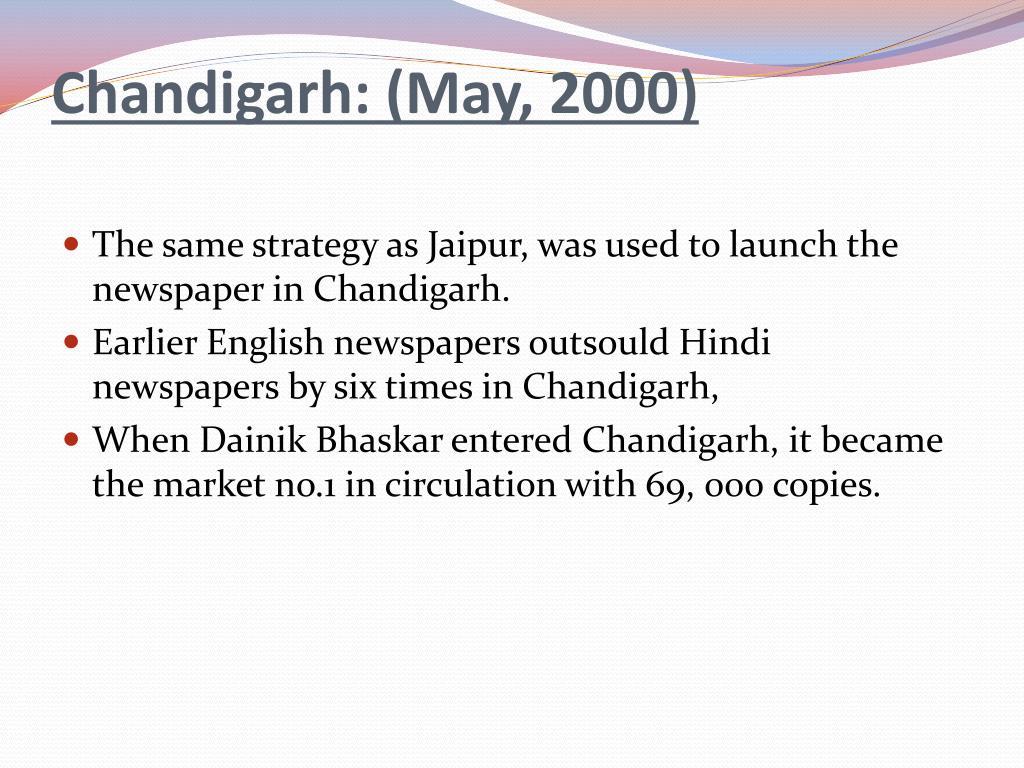 Chandigarh: (May, 2000)
