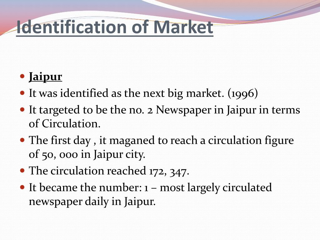 Identification of Market
