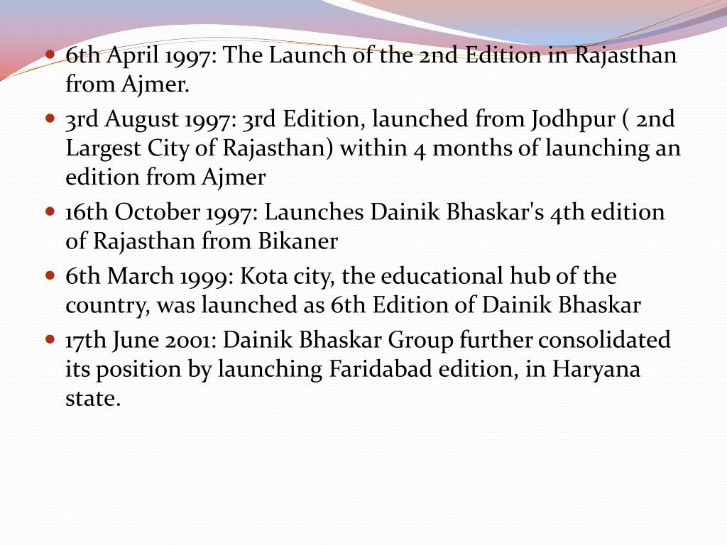 6th April 1997: The Launch of the 2nd Edition in Rajasthan from Ajmer.