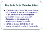 the odds ratio relative odds