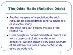 the odds ratio relative odds1