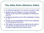 the odds ratio relative odds3