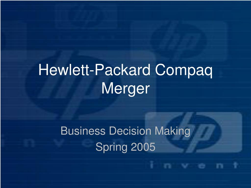 Hewlett-Packard Compaq Merger