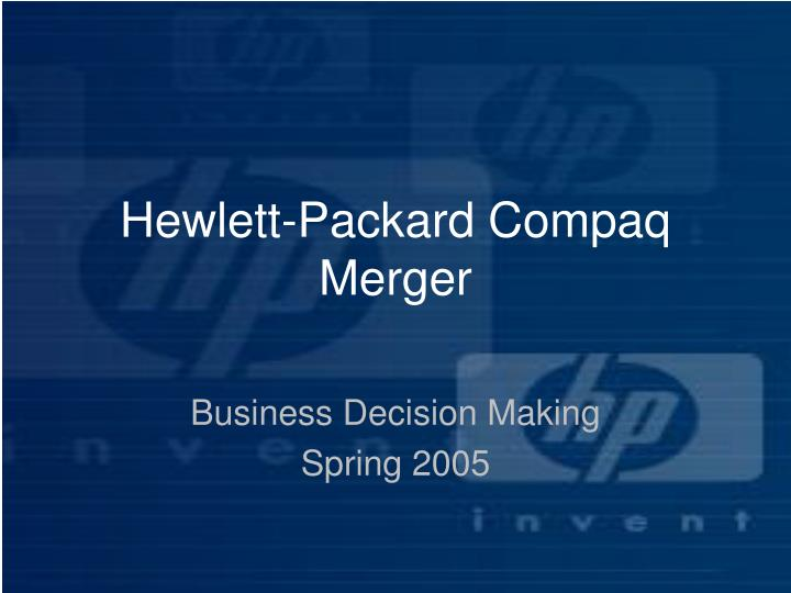 Hewlett packard compaq merger l.jpg