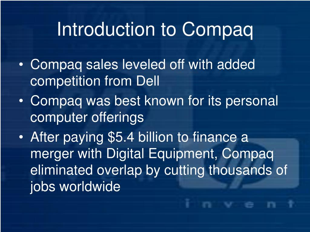 Introduction to Compaq