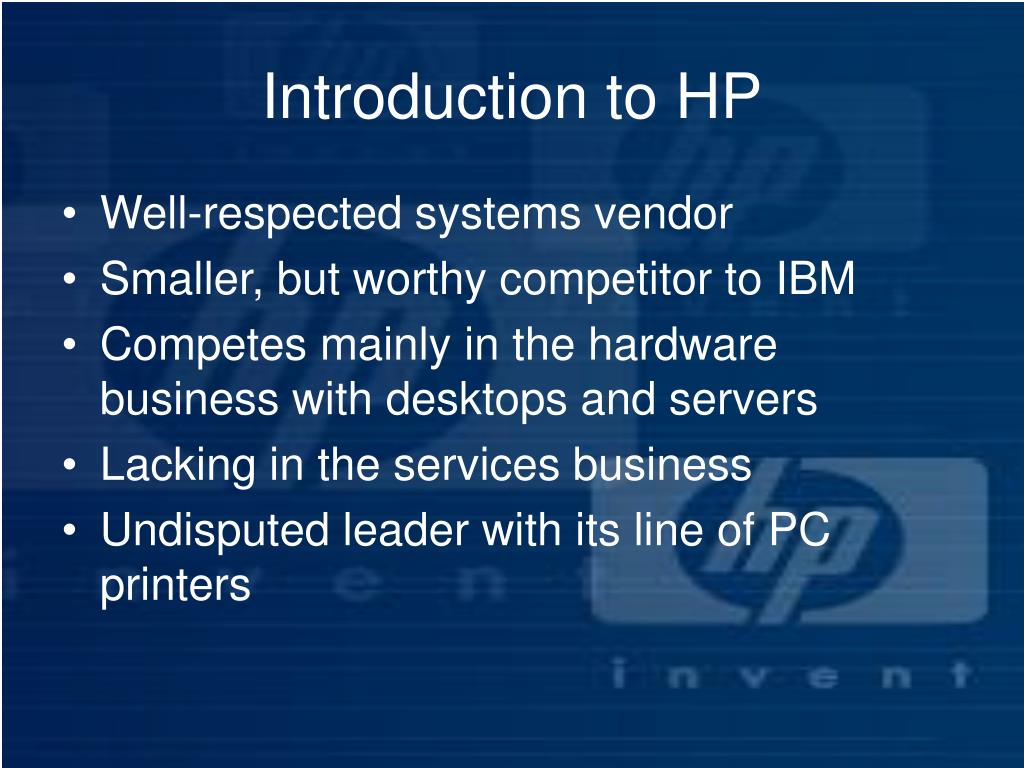 Introduction to HP