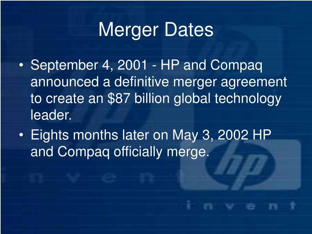 Merger Dates
