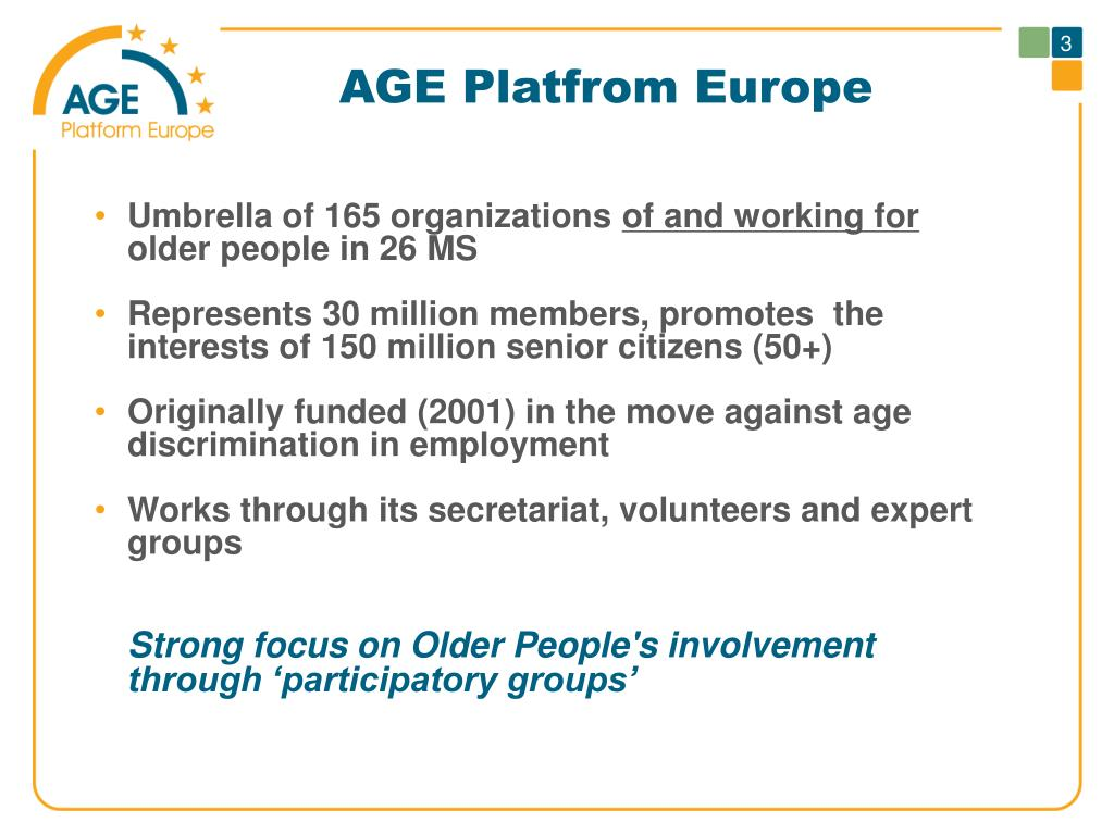 AGE Platfrom Europe
