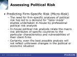 assessing political risk27