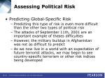 assessing political risk29