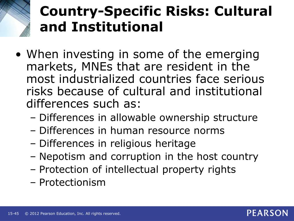 Country-Specific Risks: Cultural and Institutional