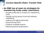 country specific risks transfer risk