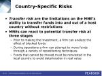 country specific risks40
