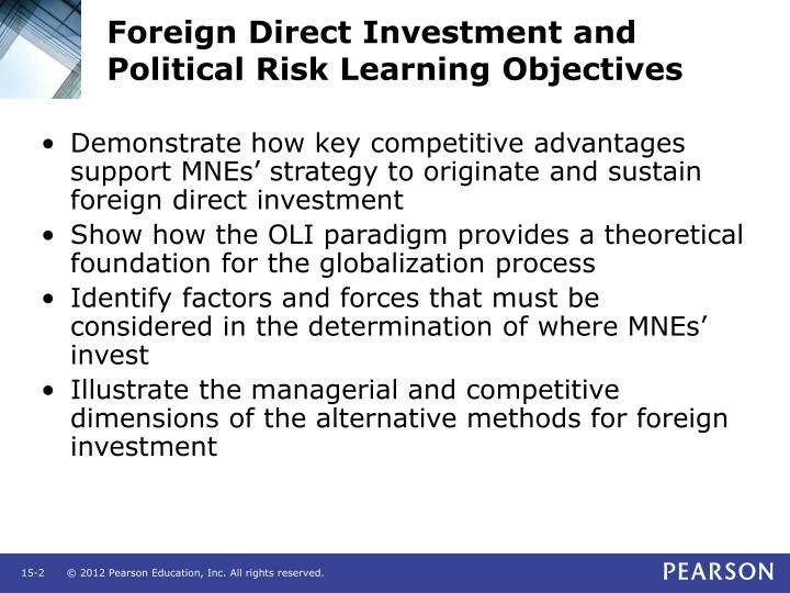 Foreign direct investment and political risk learning objectives l.jpg