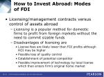 how to invest abroad modes of fdi15