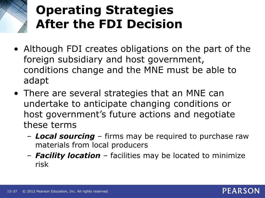Operating Strategies