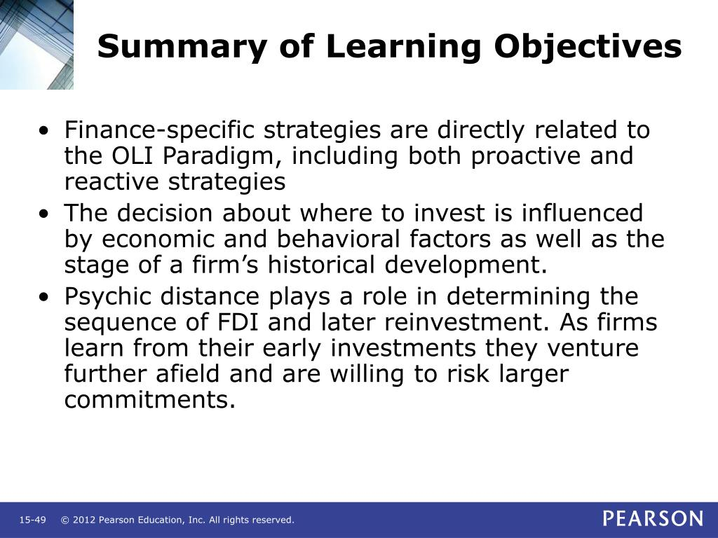 Summary of Learning Objectives