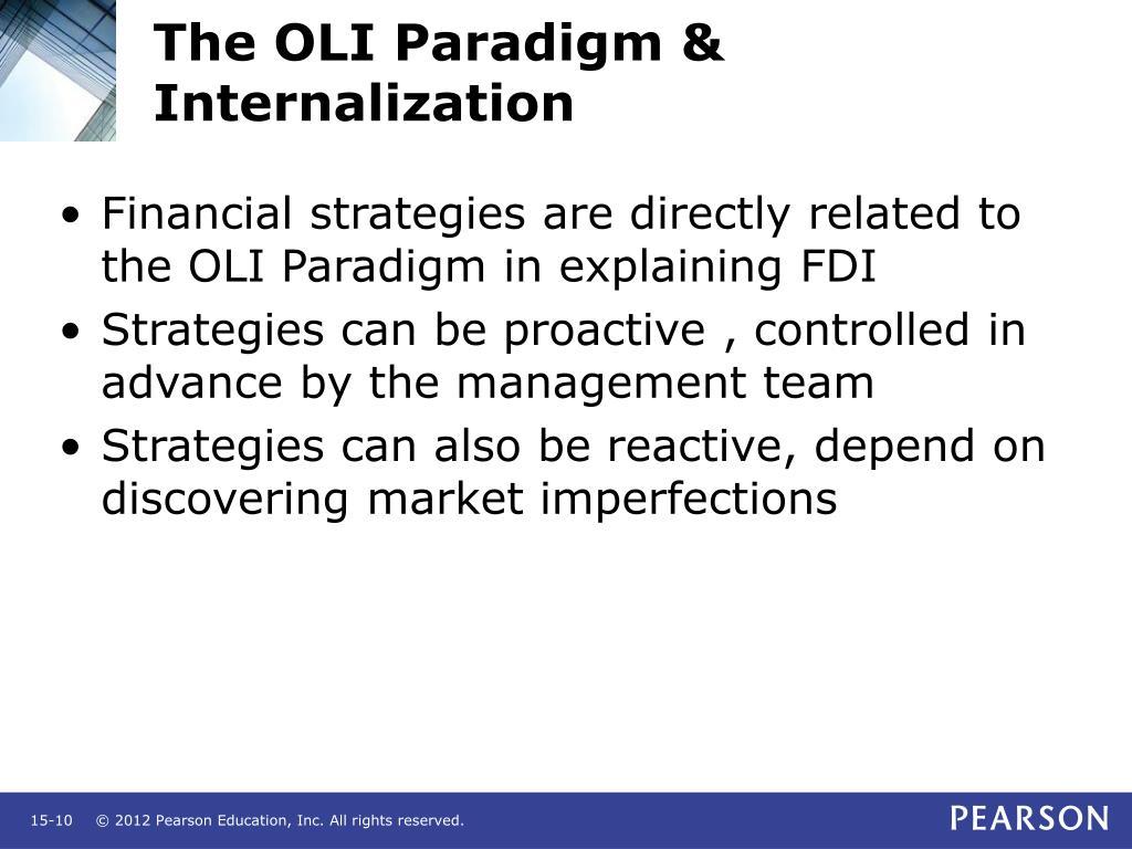 The OLI Paradigm & Internalization