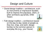 design and culture