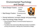 environmental psychology and design