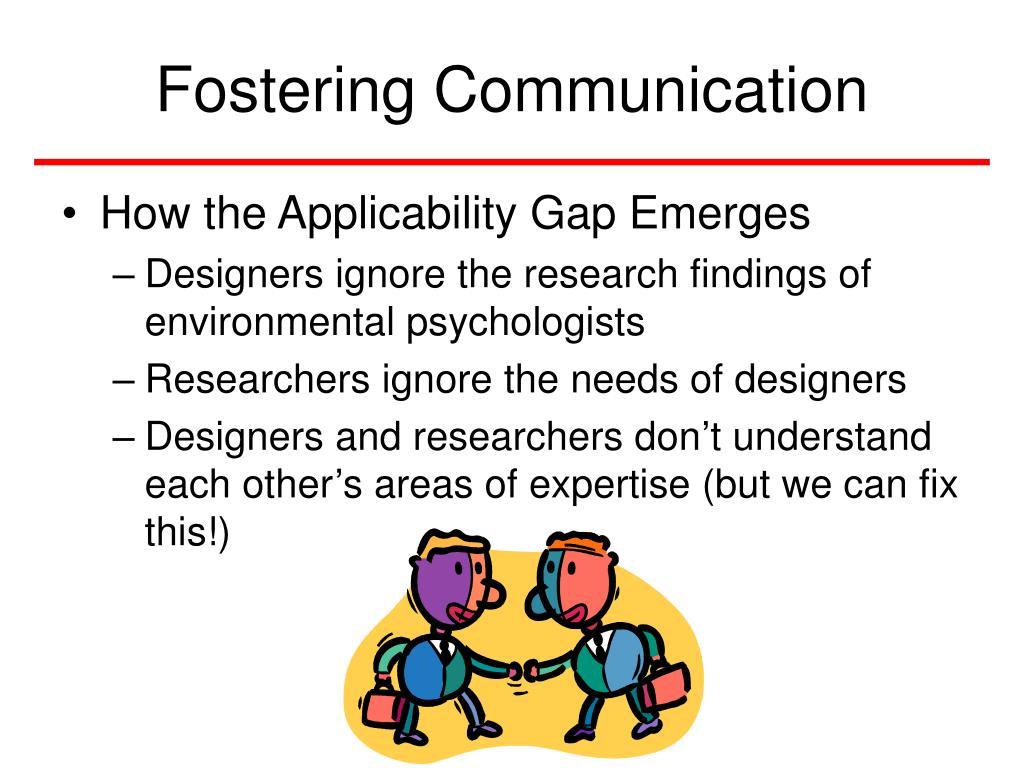 Fostering Communication