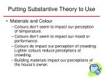 putting substantive theory to use18