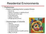 residential environments36