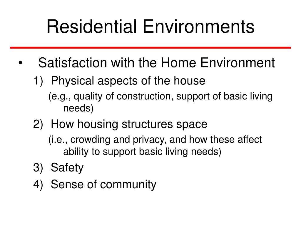 Residential Environments