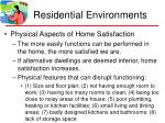residential environments38