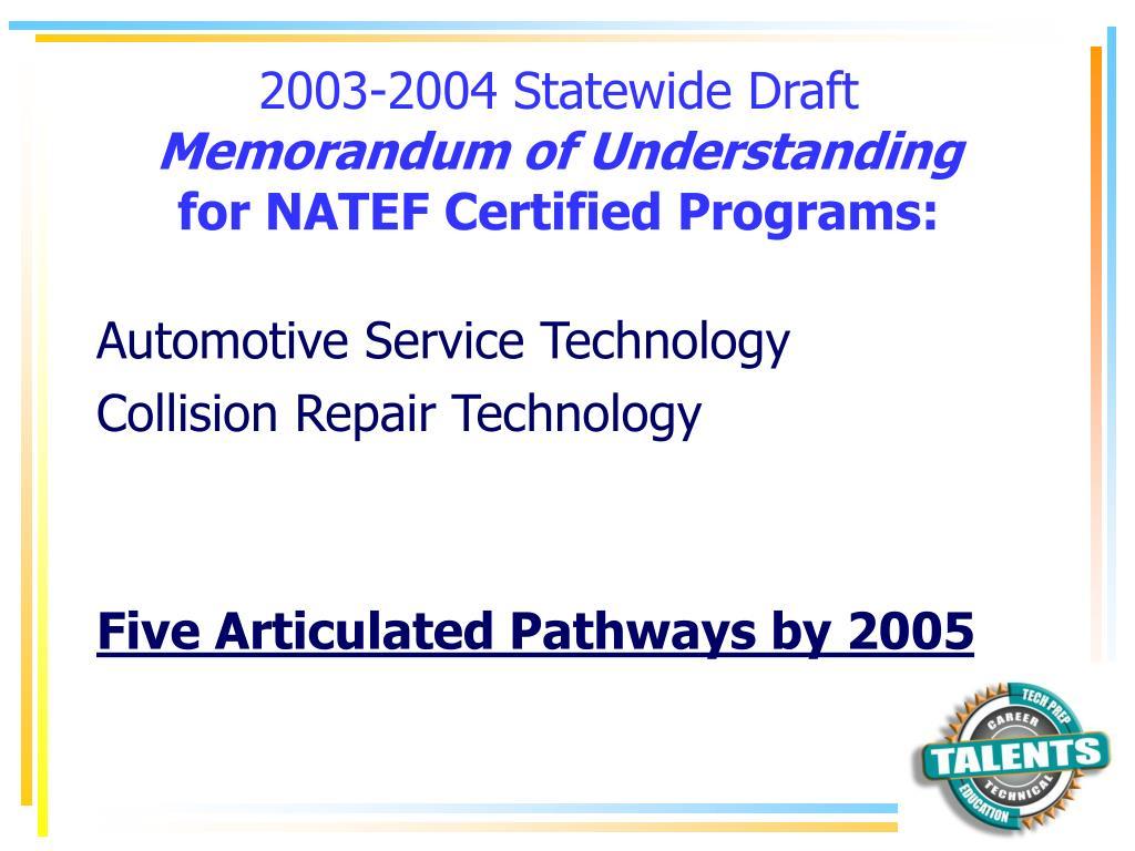 2003-2004 Statewide Draft