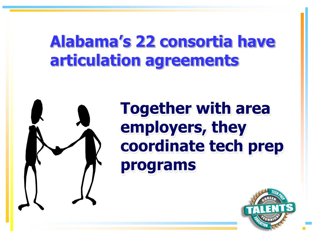 Alabama's 22 consortia have articulation agreements
