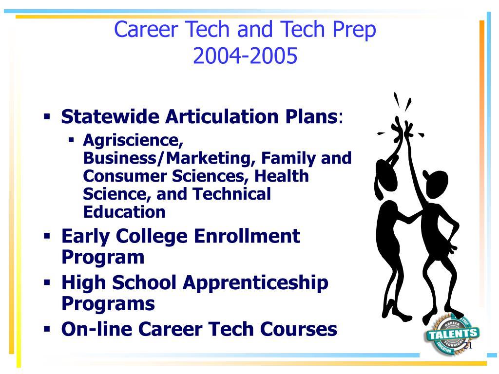Career Tech and Tech Prep