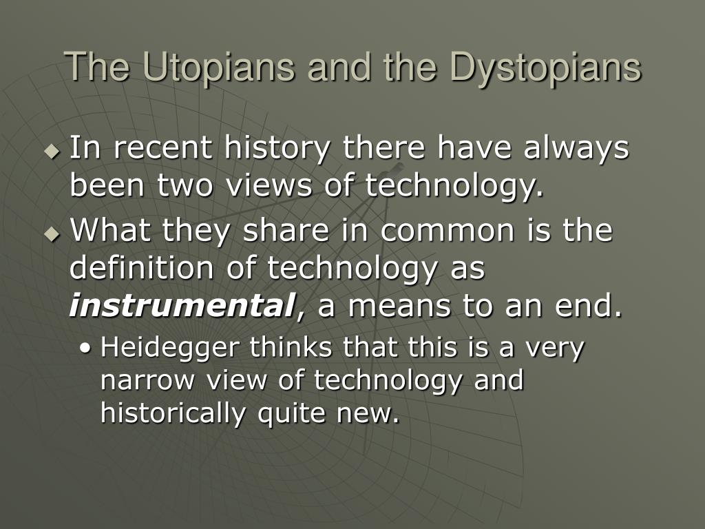 The Utopians and the Dystopians